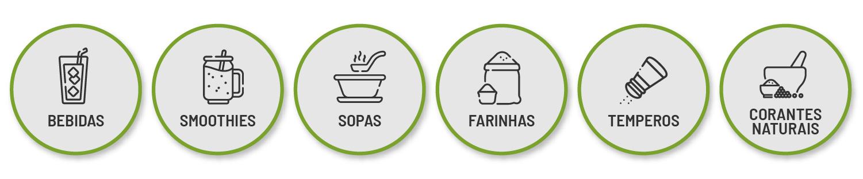 Alimentos em pó naturais